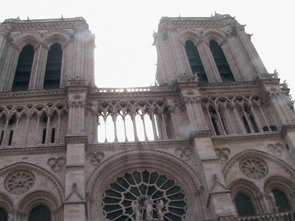 Notre Dame Cathedral was built between 1163 and 1250. It is located on the Ile de la Cite near the Sainte Chapelle.