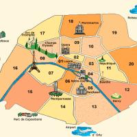 Map of Paris and Ile de la Cite